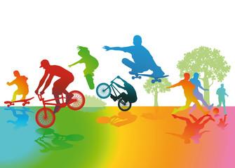 Spaß und Sport im Park