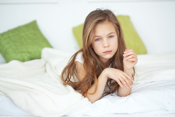 Girl in the bed