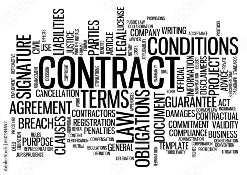 Contract Tag Cloud Agreement Signature Legal Law Business Stock