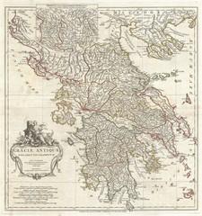 Greece vintage map
