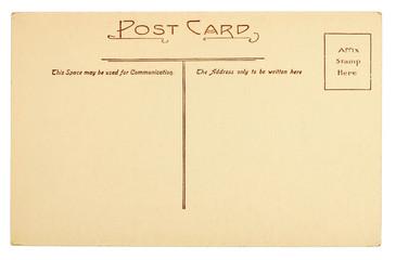 Back of Blank Postcard
