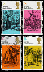 Britain Charles Dickens Postage Stamps
