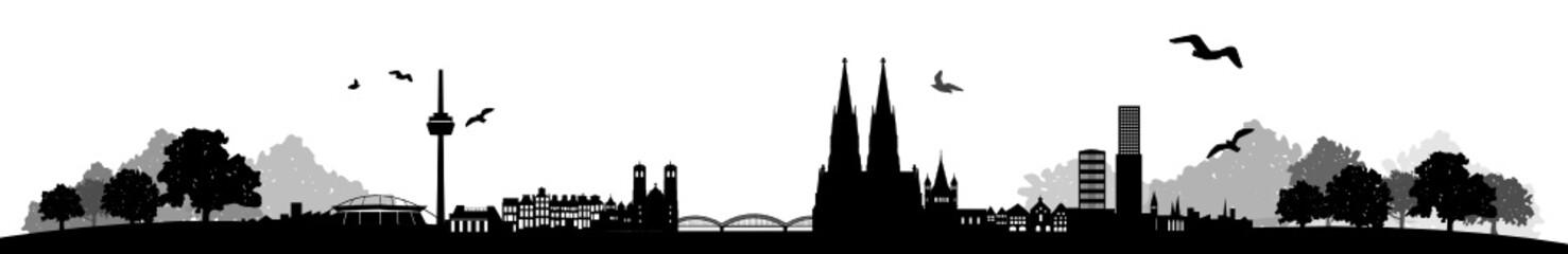 Wall Mural - Skyline Köln Landschaft