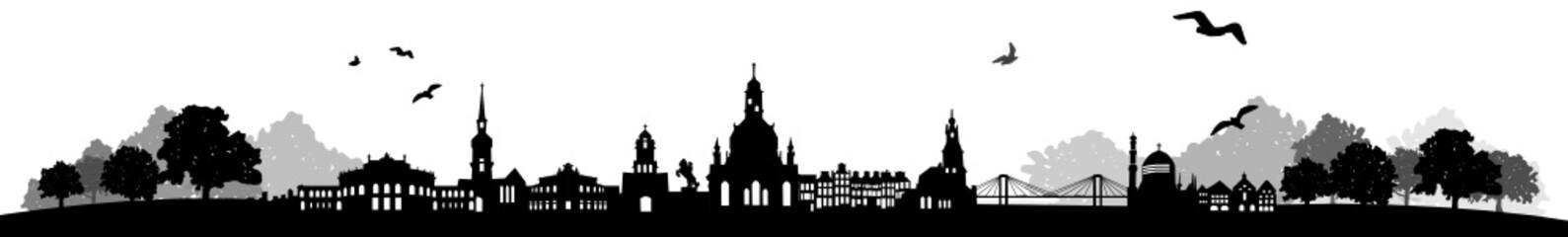 Wall Mural - Skyline Dresden Landschaft