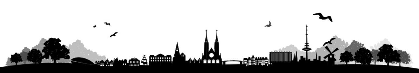 Wall Mural - Skyline Bremen Landschaft