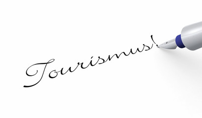 Schrift Konzept - Tourismus