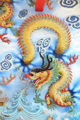 chinese dragon on wall