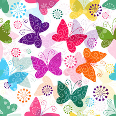 Spring vivid seamless pattern