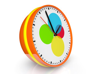 Abstract color clock