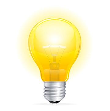 Vector Light bulb isolated on white