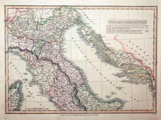 Italy vintage map