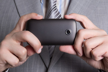 cellphone camera in male hands