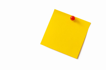 Yellow sticky note on white background