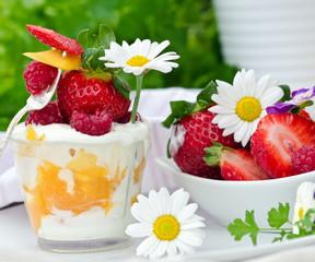 Leichter Sommer-Genuss: Quark, Joghurt und Beeren