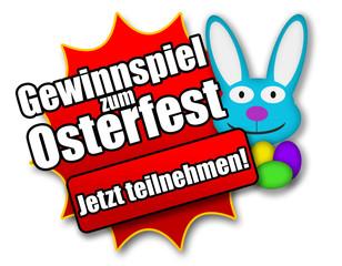 """Siegel """"Gewinnspiel zum Osterfest - Jetzt teilnehmen!"""""""