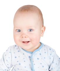 Cute smiling baby boy