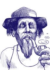 Smokers - An hand drawn illustration