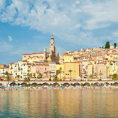 View of old town, Menton, France