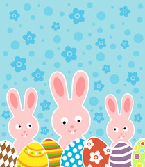 Easter background card vector illustration