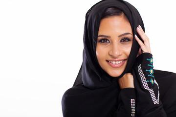 Arabic beauty on white