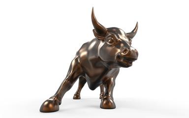 Wall Street Charging Bull Statue