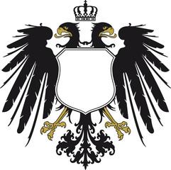 Doppeladler mit Krone