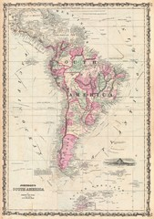 Wall Mural - South America vintage map