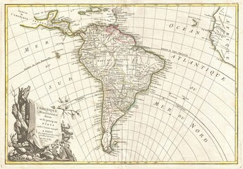 South America vintage map