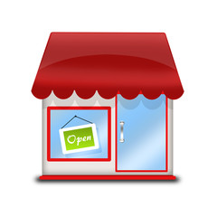 icon for the online store - cute shop