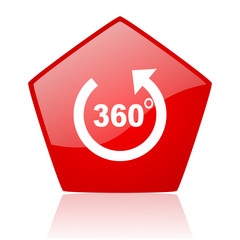 panorama red web glossy icon