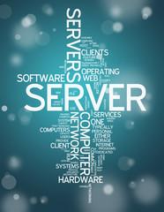 """Word Cloud """"Server"""""""