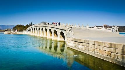 Fotobehang Beijing Seventeen Arch Bridge