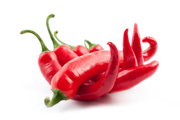 Wall Mural - five chilies