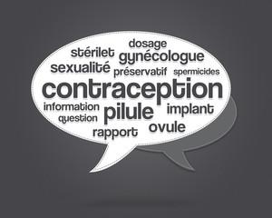 nuage de mots - contraception