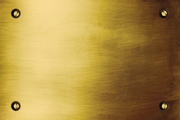 Brushed gold plate