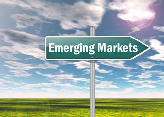 """Signpost """"Emerging Markets"""""""