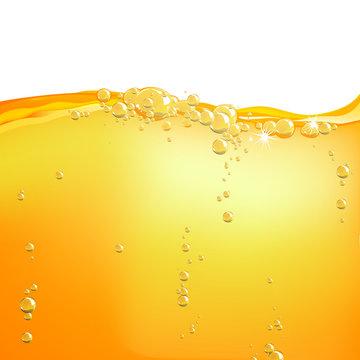 Vector Illustration of Orange Water