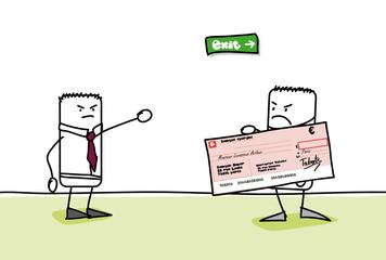 Solde de tout compte - Départ avec un chèque
