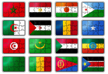 Puzzled national flags