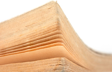 Sheets of old books. macro