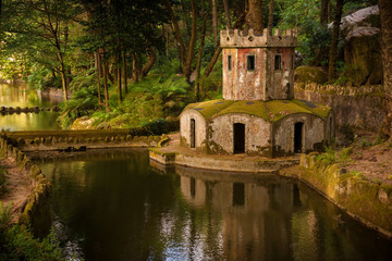 Ancient ducks house in Pena Palace park, Sintra, Portugal