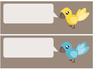 Bird talk illustration