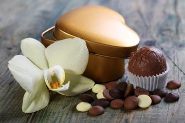 Handmade chocolates and flowers.
