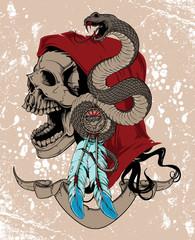 Native woman skull