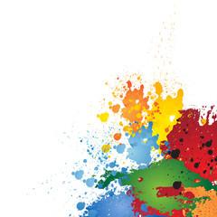 Colorf Ink Splashes, Grunge Background