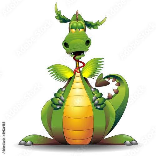 Dragon funny cartoon character drago buffo fumetto vector for Scarica clipart