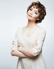 Casual style woman portrait.