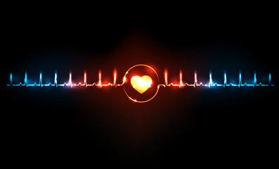 Abstract cardiogram concept
