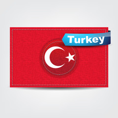 Fabric texture of the flag of Turkey
