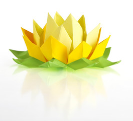 Yellow lotus origami